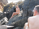 Photographer Thomas holm and Nude Model Mette Munkø behind the scenes from a session in Kullen, Sweden. Check out On the Rocks gallery for the finished images